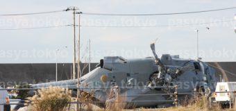三浦市三崎にMH60艦載ヘリが墜落